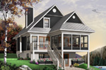 Waterfront House Plan Front Photo 02 - 032D-0580 | House Plans and More
