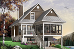 Waterfront House Plan Front Photo 03 - 032D-0580 | House Plans and More