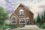 Modern House Plan Front Photo 02 - 032D-0581 | House Plans and More