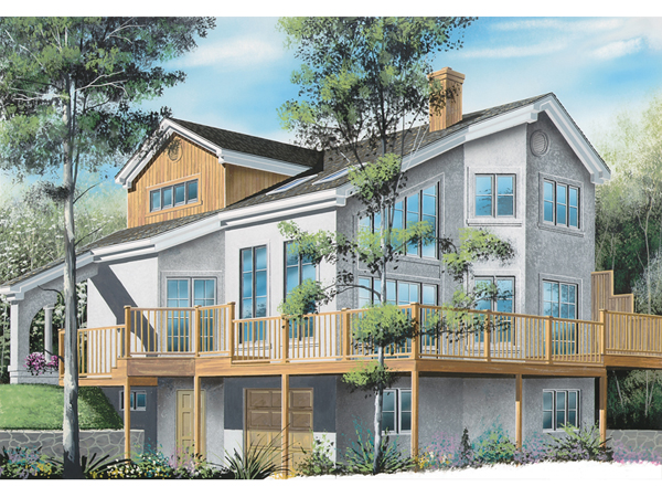 Gladwyne Waterfront Home Plan 032d 0583 House Plans And More