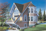 Victorian House Plan Front Image - 032D-0584 | House Plans and More