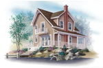 Waterfront House Plan Front Image - 032D-0588 | House Plans and More