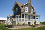 Waterfront House Plan Side View Photo 01 - 032D-0588 | House Plans and More
