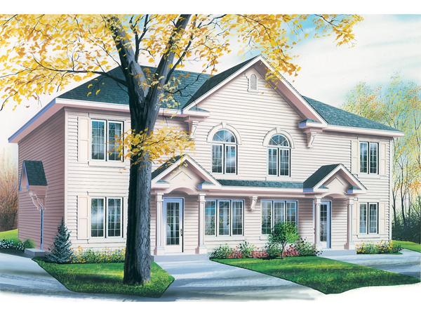 Lehigh multi family fourplex plan 032d 0591 house plans for Fourplex designs