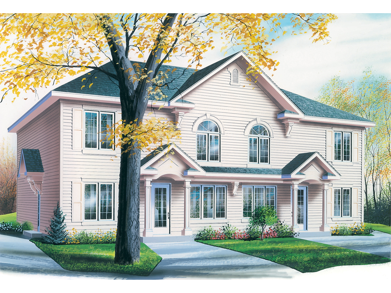 Multi-Family House Plan Front of Home 032D-0591