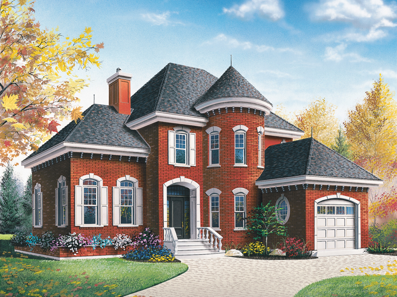 Victorian House Plan Front Image - 032D-0595 | House Plans and More