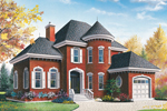 Traditional House Plan Front Image - 032D-0595 | House Plans and More