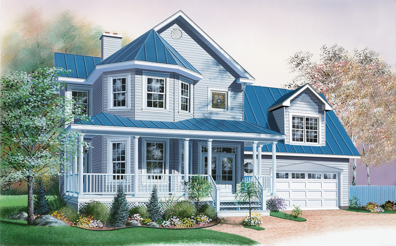 Farmhouse Plan Front Image - 032D-0596 | House Plans and More