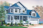 Bungalow House Plan Front Image - 032D-0596 | House Plans and More
