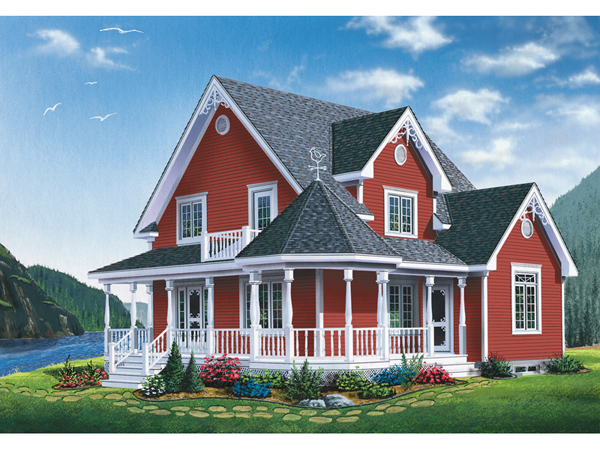 Moravian Victorian Home Plan 032d 0598 House Plans And More