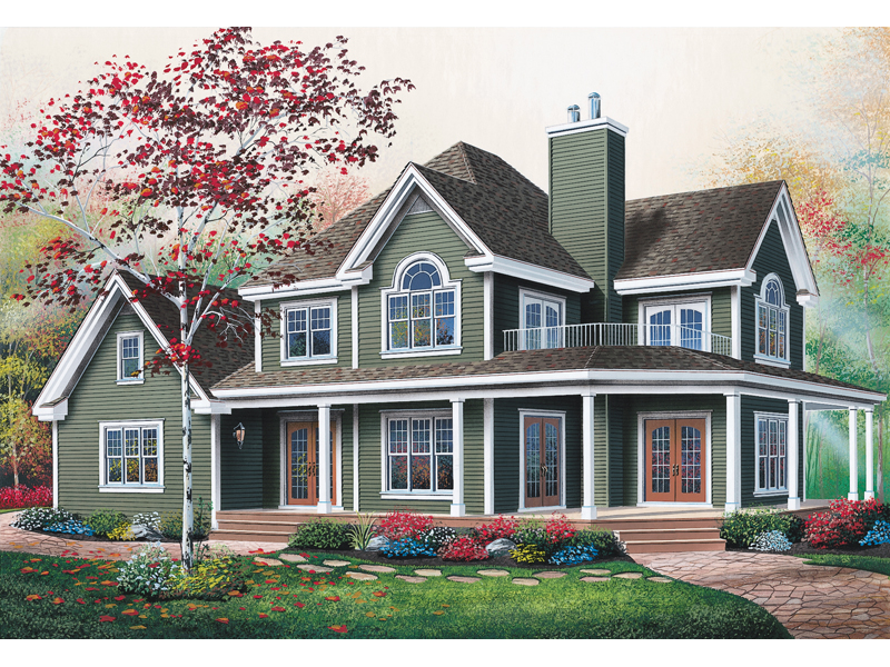 Farmhouse Plan Front Photo 01 - 032D-0599 | House Plans and More