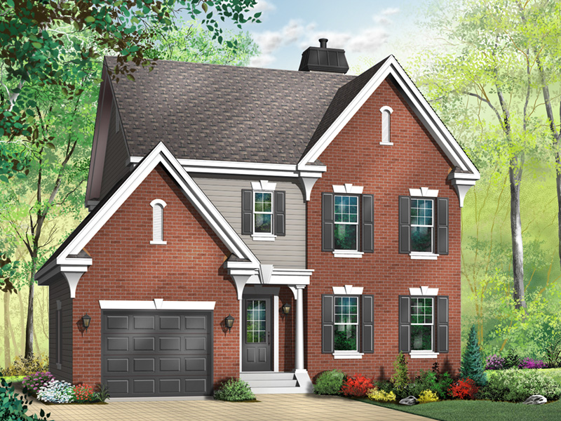 Traditional House Plan Front Photo 04 - 032D-0600 | House Plans and More