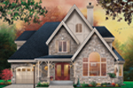 European House Plan Front Image - 032D-0601 | House Plans and More