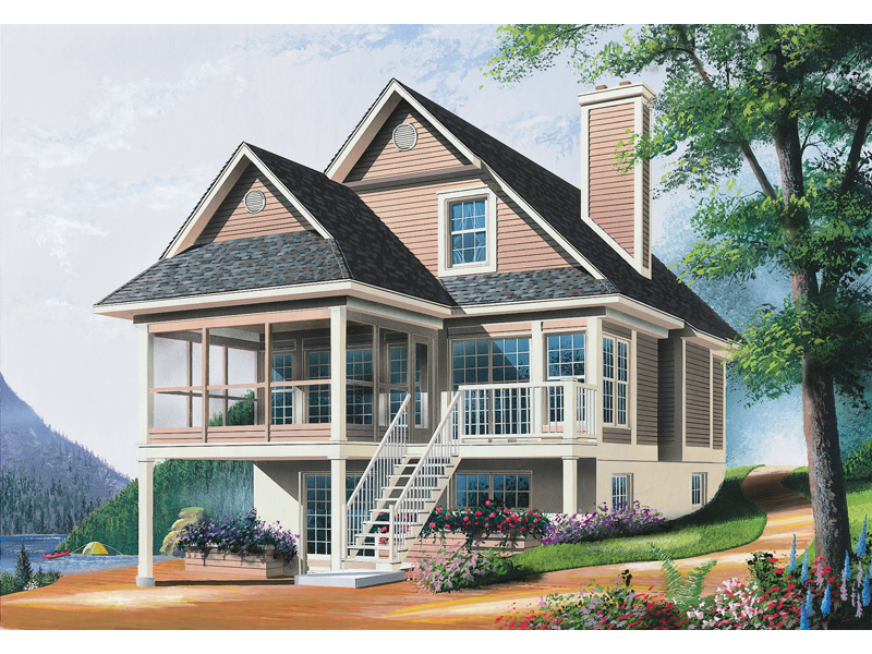 Modern House Plan Front Image - 032D-0602 | House Plans and More