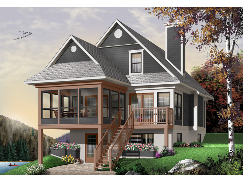 Modern House Plan Front Photo 01 - 032D-0602 | House Plans and More