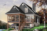 Modern House Plan Front Photo 02 - 032D-0602 | House Plans and More