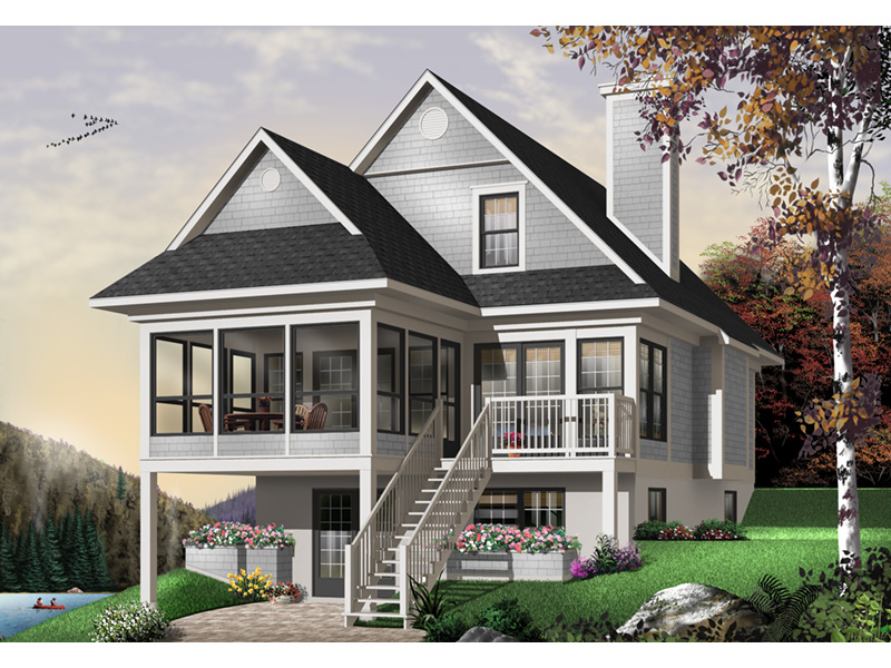 Modern House Plan Front Photo 03 - 032D-0602 | House Plans and More