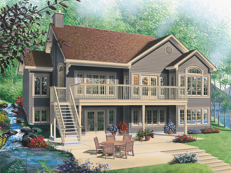 Expansive Deck And Patio Grace This Waterfront Home