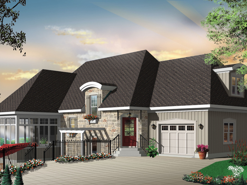 Southwestern House Plan Front Photo 03 032D-0609