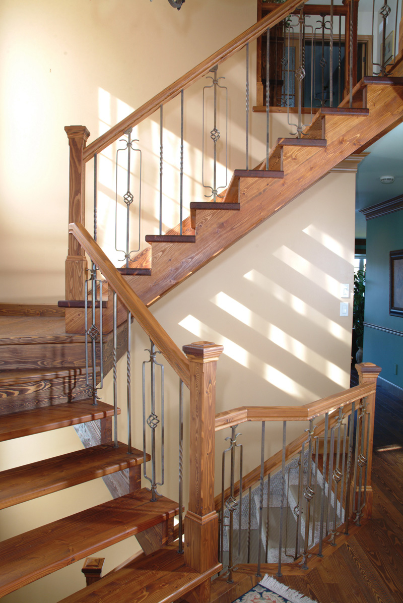 Arts & Crafts House Plan Stairs Photo - 032D-0609 | House Plans and More