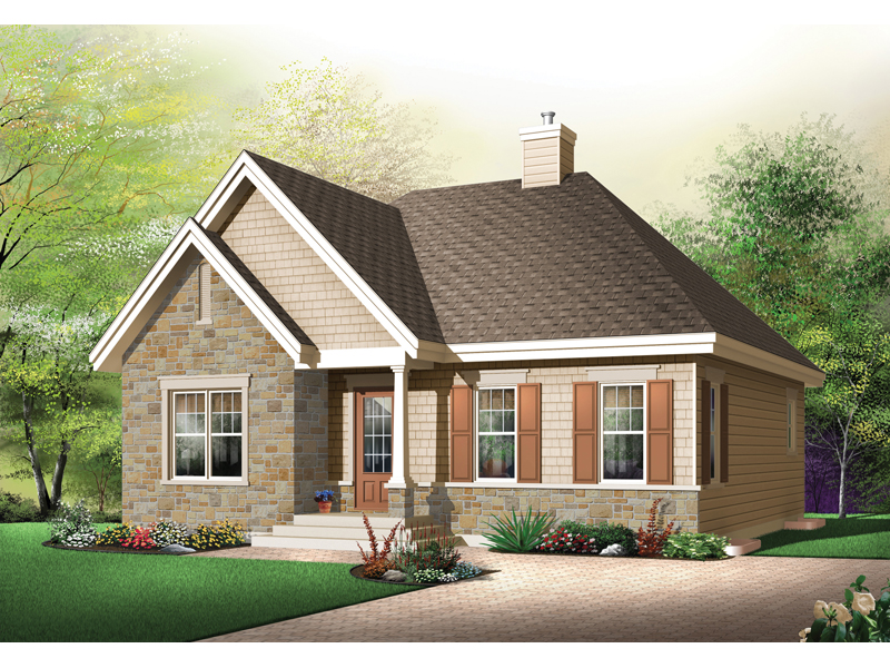 Ranch House Plan Front Image 032D-0613