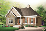 Vacation Home Plan Front Image - 032D-0613 | House Plans and More