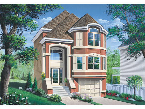 comstock narrow lot townhouse plan 032d 0619 house plans