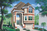 Multi-Level Stucco Home Has Townhouse Feel Perfect For A Narrow Lot
