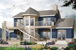 Waterfront Home Offers A Stunning Turret For Great Views