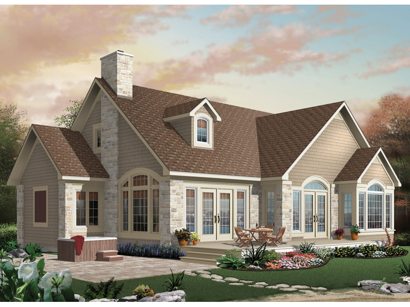 Craftsman House Plan Front of Home - 032D-0624 | House Plans and More
