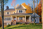 Traditional Two-Story House Has Farmhouse Inspiration