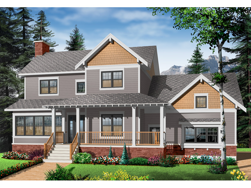 Arts & Crafts House Plan Front Photo 02 - 032D-0633 | House Plans and More