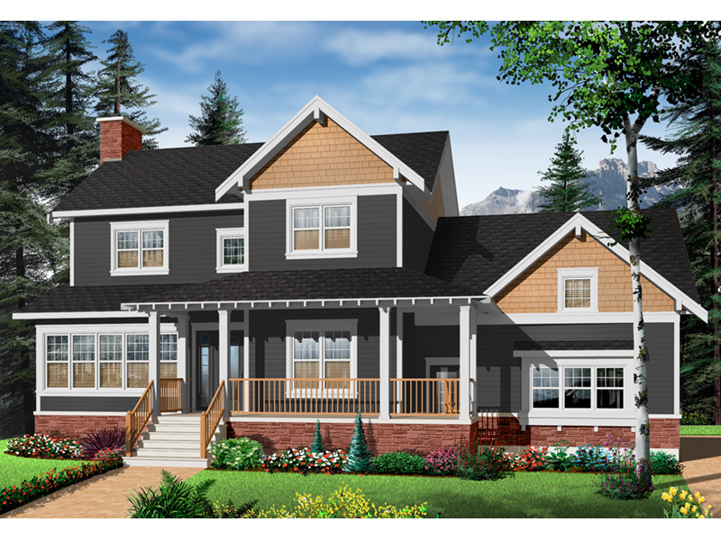 Arts & Crafts House Plan Front Photo 04 - 032D-0633 | House Plans and More