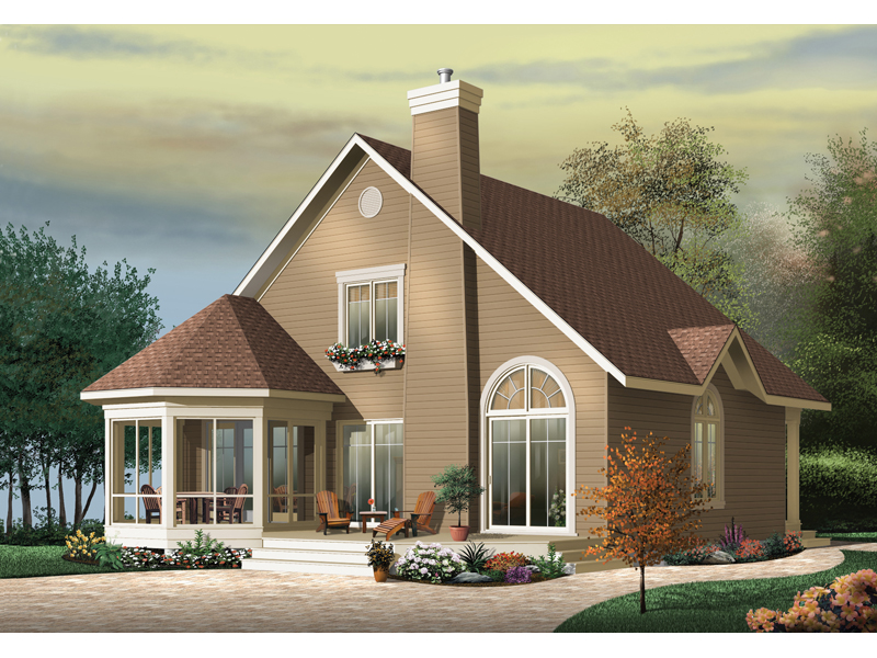 Cabin & Cottage House Plan Front of Home - 032D-0644 | House Plans and More