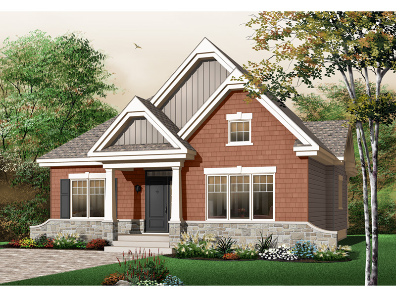 Modern House Plan Front Photo 02 - 032D-0652 | House Plans and More