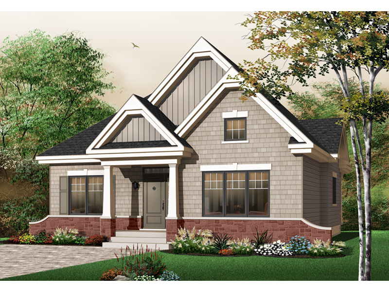 Modern House Plan Front Photo 03 - 032D-0652 | House Plans and More