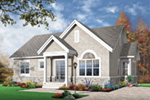 Arts & Crafts House Plan Front Image - 032D-0655 | House Plans and More