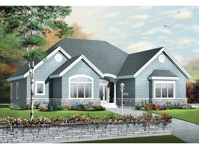 Ranch House Plan Front of Home - 032D-0660 | House Plans and More