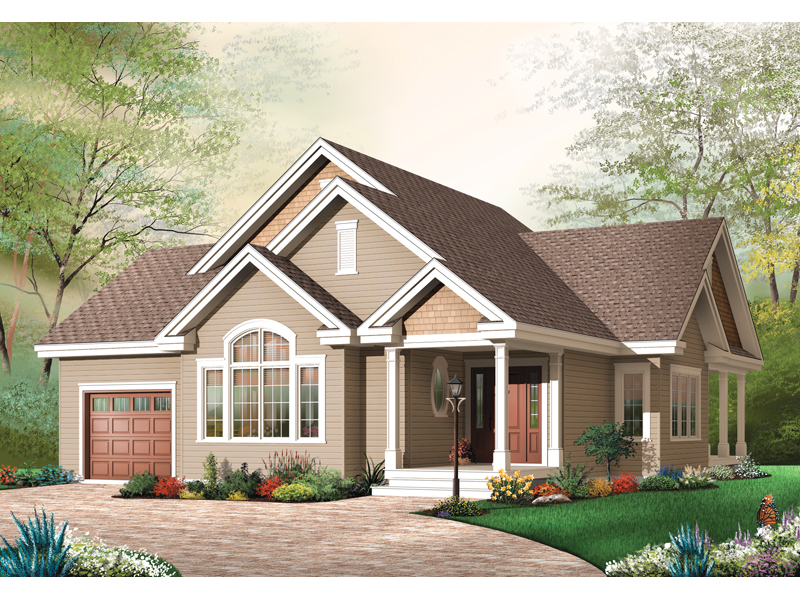 Ranch House Plan Front Image - 032D-0667 | House Plans and More