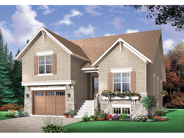saddlepost split level home plan 032d 0673 house plans