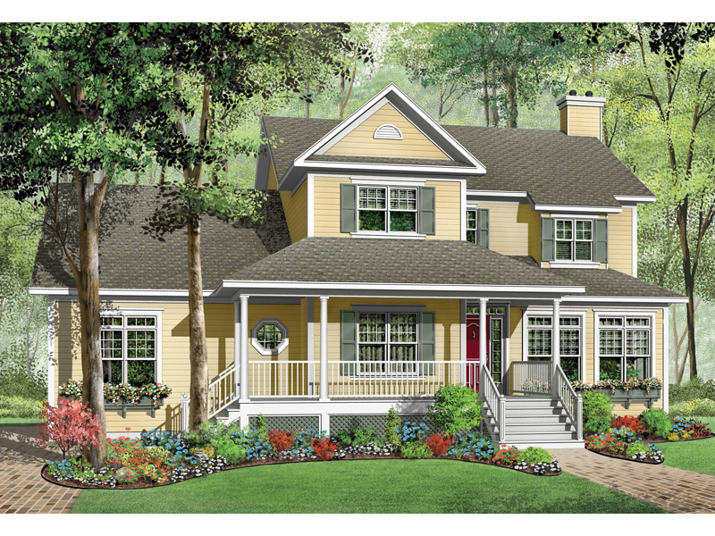 Traditional House Plan Front Image - 032D-0682 | House Plans and More