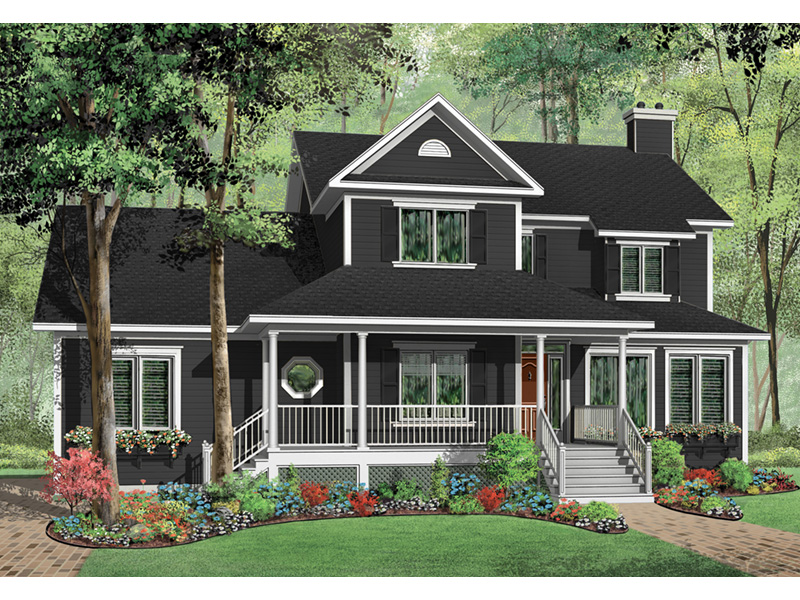 Traditional House Plan Front Photo 01 - 032D-0682 | House Plans and More