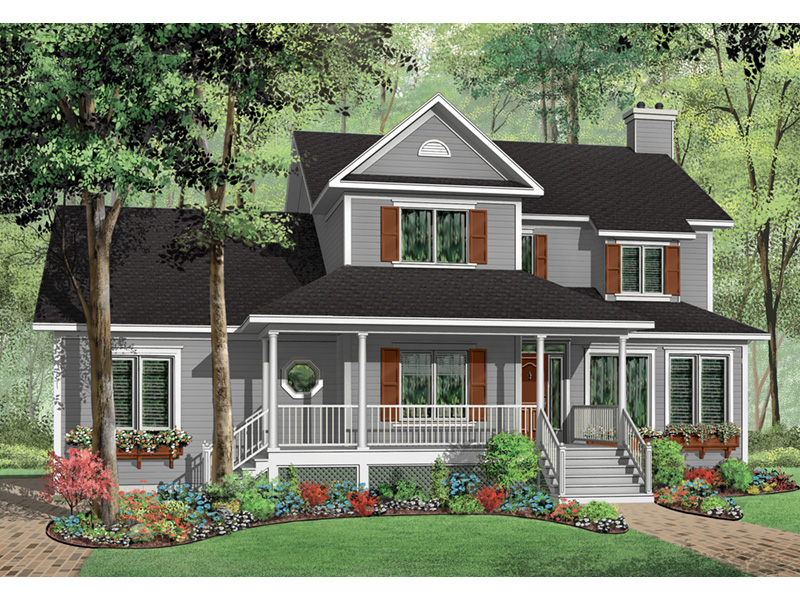 Traditional House Plan Front Photo 02 - 032D-0682 | House Plans and More