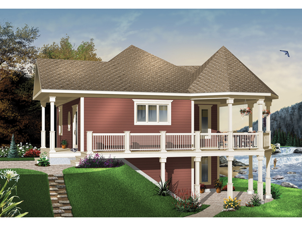 Fairspring waterfront home plan 032d 0685 house plans for Waterfront house plans walkout basement