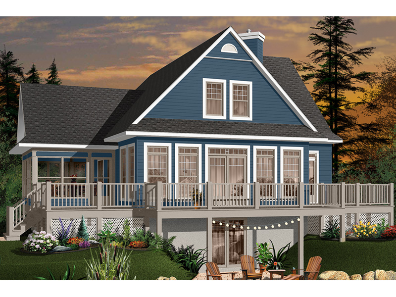 Vacation House Plan Front Photo 01 - 032D-0686 | House Plans and More