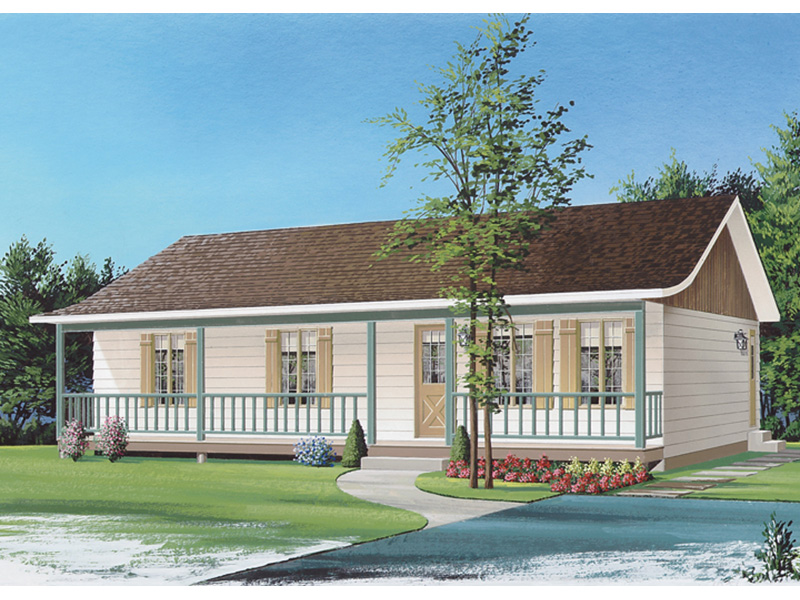 Ranch House Plan Front Image - 032D-0688 | House Plans and More