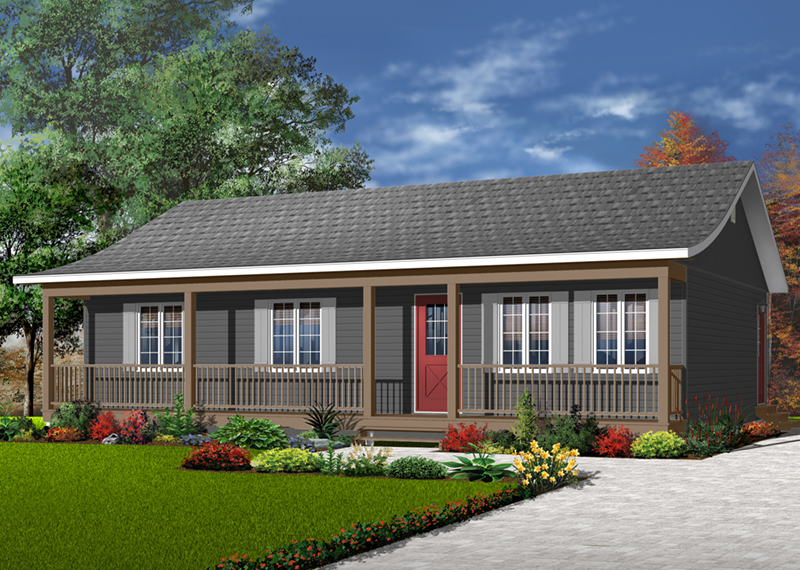 Lebeau Bayou Acadian Ranch Home Plan 032d 0688 House