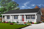 Ranch House Plan Front Photo 02 - 032D-0688 | House Plans and More