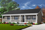 Ranch House Plan Front Photo 03 - 032D-0688 | House Plans and More