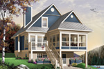 Modern House Plan Front Image - 032D-0696 | House Plans and More